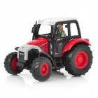 1:43 Farm Tractor Display Model - Red + White + Black