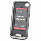 Douhao 1800mAh externe Backup Battery Case für iPhone 4 / 4S - Schwarz