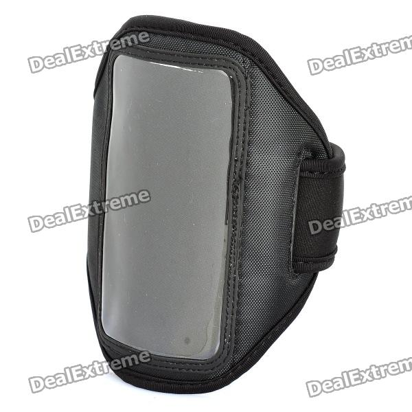 Stylish Sport Armband for HTC One X / S720e - Black sporty nylon armband for htc desire hd hd2 evo 4g black blue