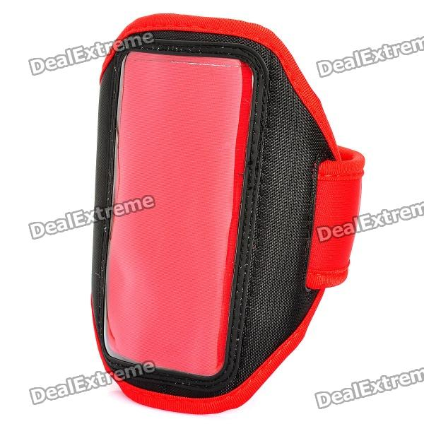 Stylish Sport Armband for HTC One X / S720e - Red + Black sporty nylon armband for htc desire hd hd2 evo 4g black blue
