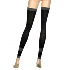 Women's Elastic Compression Sleeping Leg-Slimming Stockings - Black
