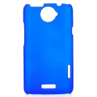 Matte Protective PE Back Case for HTC One X / S720e - Blue