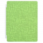Decorative Ultra-Thin Protective Matte PU Leather Smart Cover for iPad 2 / The New iPad - Green