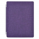 Decorative Ultra-Thin Protective Matte PU Leather Smart Cover for iPad 2 / The New iPad - Purple