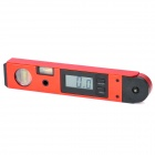 OEM DA-102 Digital Angle Meter Protractor with 2 Spirit Levels - Red + Black