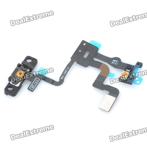 Replacement Light Proximity Sensor Power Button Flex Cable for Iphone 4S replacement power button flex cable for ipad mini black silver