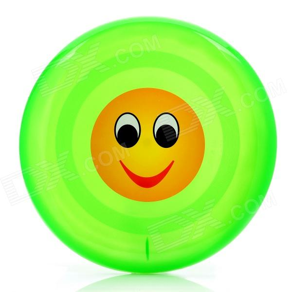Outdoor Pet Dog Training Smiling Face Frisbee Toy - Green (23cm-Diameter)