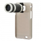8x Zoom Telescope Lens + Back Case for Samsung i9100 - Black