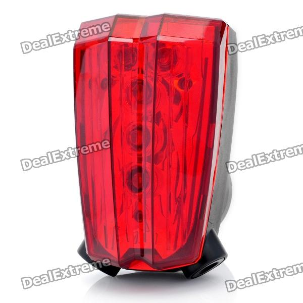 3-Mode 5-LED Red Light Bike Safety Tail Lamp w/ 2-Mode Parallel Red Lasers (2 x AAA) 001 bicycle bike 7 mode 5 led red light tail warning safety light red black 2 x aa
