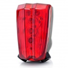 3-Mode 5-LED Red Light Bike Safety Tail Lamp w/ 2-Mode Parallel Red Lasers (2 x AAA)
