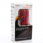 3-Mode 5-LED Red Light Bike Safety Tail Lamp w/ Red Lasers - Red