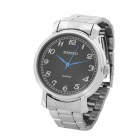 Elegant Stainless Steel Men's Quartz Wrist Watch - Black (1 x LR626)