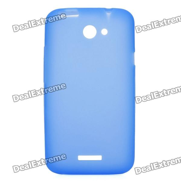Protective Silicone Back Case for HTC One X - Blue