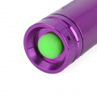 New-H60 270LM 3-Mode White Zoom Flashlight - Purple (1 x 14500 / 1 x AA)