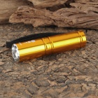 Designer's New-H60 Cree XP-E Q5 270LM 3-Mode White Zoom Flashlight - Golden (1 x 14500 / 1 x AA)