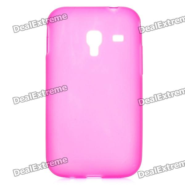Protective TPU Back Case for Samsung S7500 - Deep Pink