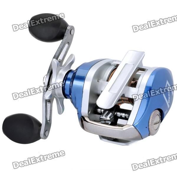 Professional Aluminum Alloy Fishing Reel - Silver + Blue vik max adult kids dark blue leather figure skate shoes with aluminium alloy frame and stainless steel ice blade