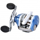 Professional Aluminum Alloy Fishing Reel - Silver + Blue