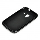 Protective TPU Back Case for Samsung S7500 - Black