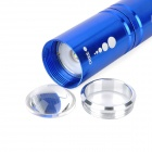 New-H60 270LM 3-Mode White Zoom Flashlight - Blue (1 x 14500 / 1 x AA)