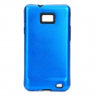 Protective Silicone Back Case w/ Aluminum Cover for Samsung Galaxy S2 / i9100 - Blue