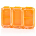Portable Plastic Fishing Tackle Box - Orange
