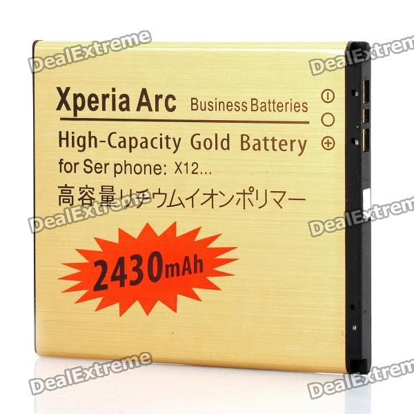 Replacement 3.7V 2430mAh Battery for Sony Xperia Arc / X12 / LT15i
