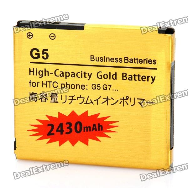 Replacement 3.7V 2430mAh Battery for HTC Desire / G7 / Nexus One / G5 - Golden