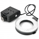 APUTURE AHL-C60 5500K 60-LED White Macro Ring Light for Camera - Black (4 x AA)
