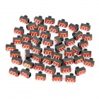 SS-12F15 6-Pin Slide Switches DIY Parts - Silver + Black (50-Piece Pack)