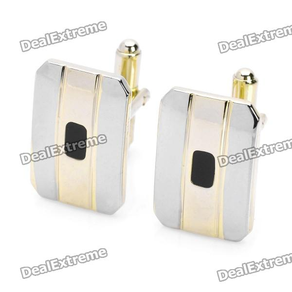 Men's Suit Cuff Links/Buttons - Golden + Silver (Pair)