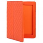 Protective Artificial Leather Flip Open Case for New Ipad / Ipad 2 - Orange