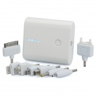 4400mAh Portable Battery Charger w/ Dual USB Output for iPhone / iPad / iPod / PSP + More - White
