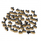 SS-12F20 Mini 3-Pin Slide Switches DIY Parts - Black (50-Piece Pack)