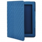 Protective Artificial Leather Flip Open Case for New Ipad / Ipad 2 - Blue