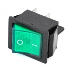 4-Pin On / Off Interruptores basculantes con indicador luminoso verde (5-Piece Pack)