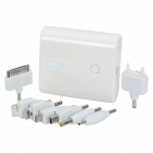 4400mAh Portable Battery Charger w/ Plug Adapters for iPhone / iPad / iPod / PSP + More - White