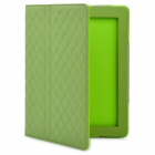Protective PU Leather Flip Open Case for New Ipad / Ipad 2 - Dark Green
