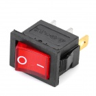 3-Pin On/Off Rocker Switches with Red Light Indicator (10-Piece Pack)