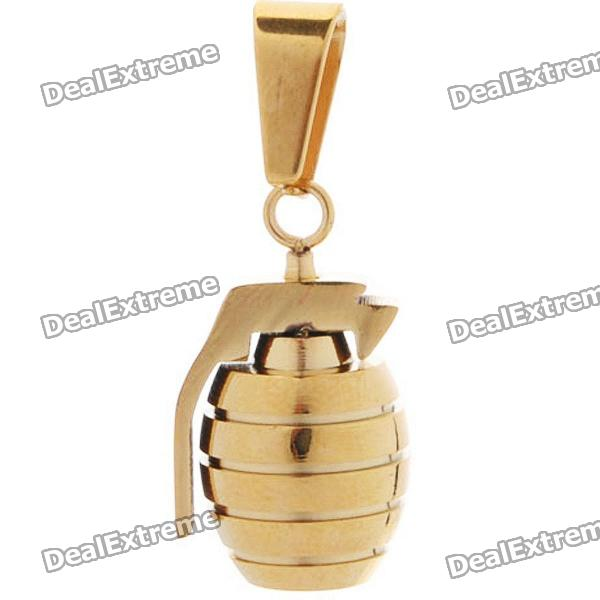 Trendy Stainless Steel Charm Grenade Style Pendant - Golden от DX.com INT