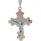 Stainless Steel Cool Men's Catholic Cross Style Pendant