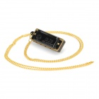 Mini 4-Hole 8-Tone Harmonica with Necklace