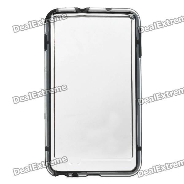 Protective ABS Case w/ Silicone Frame for Samsung i9220 - Transparent + Black