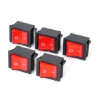 4-Pin Rocker Switches with Red Light Indicator (5-Piece Pack)