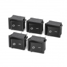 Electrical Power Control On/Off 6-Pin Rocker Switches (5-Piece Pack)