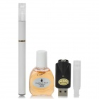 Quit Smoking USB Rechargeable Medium Density Electronic Cigarette w/ Camel Flavor Tar Oil - White