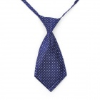 Decoration White Dot Bow Tie for Men - Blue + White