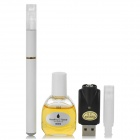 Quit Smoking USB Rechargeable Medium Density Electronic Cigarette w/ 555 Flavor Tar Oil - White