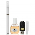Quit Smoking USB Rechargeable Electronic Cigarette with Tobacco Tar Oil - White