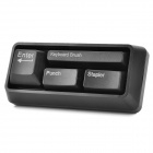 Creative Keyboard Stationery Set - Schwarz (Clip Dispenser + Tastatur Pinsel + Punsch + Hefter)